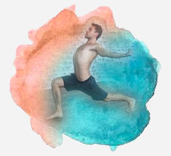 Image of man performing elemental flow