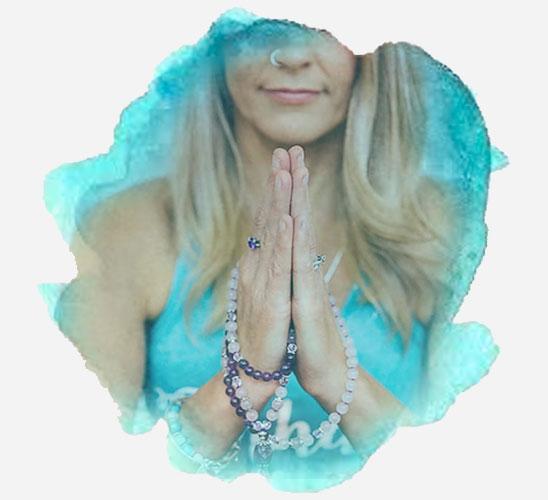 Image of Suz Phillis performing restorative yoga